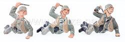 Lineol - Heer 3 Soldaten liegend Handgranaten werfend