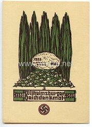 "III. Reich - farbige Propaganda-Postkarte - "" Wilhelmsburger Deichdenkmal 1333-1933 """