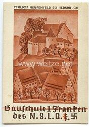 "III. Reich - farbige Propaganda-Postkarte - "" Gauschule I Franken des NSLB - Schloss Henfenfeld bei Hersbruck """