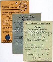 III. Reich - Dokumentengruppe für einen Jungen des Jahrgangs 1927 aus Hamburg