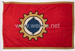 III. Reich Deutsche Arbeitsfront DAF große Betriebsfahne für einen Musterbetrieb