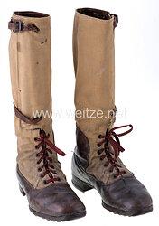 Luftwaffe Afrikakorps Paar Stiefel für die Tropenbekleidung
