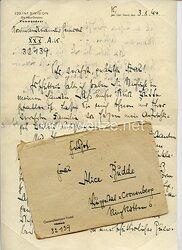 Heer - Originalunterschrift von Ritterkreuzträger Generalleutnant Georg-Wilhelm Postel