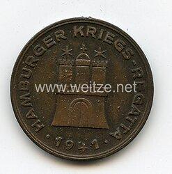 """Nichttragbare Teilnehmermedaille """"Hamburger Kriegs-Regatta 1941"""""""
