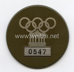 XI. Olympischen Spiele 1936 Berlin - Dienstabzeichen für Offizielle des Olympischen Dorfes Döberitz