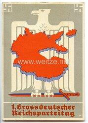 """III. Reich - farbige Propaganda-Postkarte - """" 1. Grossdeutscher Reichsparteitag """""""
