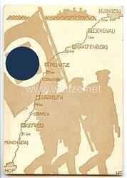 """III. Reich - farbige Propaganda-Postkarte - """" Marsch-Postkarte zum Reichsparteitag 1936 """""""