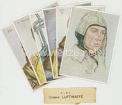 Luftwaffe - Willrich farbige Propaganda-Postkartenserie -
