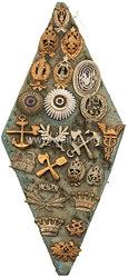 Rußland 1. Weltkrieg Sammlung von 22 Abzeichen