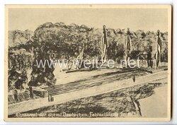 """III. Reich - Propaganda-Postkarte - """" 3. Waffentag der ehemaligen Deutschen Feldartillerie Köln 1934 """""""