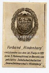 "Freikorps - Propaganda-Postkarte des Verbandes "" Hindenburg """