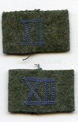 """Wehrmacht Heer Paar Überschübe für Schulterklappen Mannschaft Kraftfahrtruppe im Wehrkreis """"XII"""""""