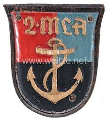 Kriegsmarine Schiffswappen der 2.Marine-Lehr-Abteilung