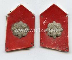 Kroatien 2. Weltkrieg Paar Kragenspiegel für Mannschaften der Ustascha Einheiten