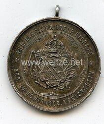 Sachsen Königreich Silberne Verdienstmedaille für langjährige Treue Dienste - der Landwirtschaftliche Kreisverein