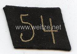 Allgemeine SS Einzel-Kragenspiegel für Mannschaften SS-Standarte 54