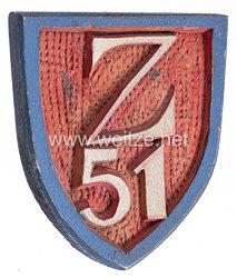 """Kriegsmarine Schiffswappen des Zerstörer """"Z51"""""""