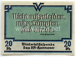 """WHW - Gau 24 : Ost-Hannover - Spendenschein """" Bauernhaus """""""