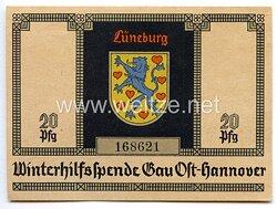 """WHW - Gau 24 : Ost-Hannover - Spendenschein """" Lüneburger Wappen"""""""