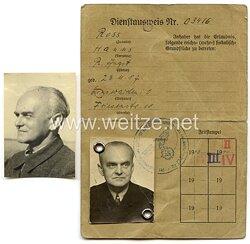 Dienstausweis für einen Angestellten im Reichsluftfahrtministerium