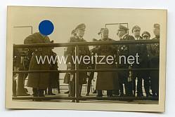 III. Reich Foto, Adolf Hitler und Benito Mussolini bei einer Besprechung mit Ernst Udet