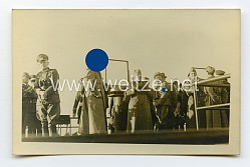 III. Reich Foto, Adolf Hitler und Benito Mussolini bei einem Frontbesuch