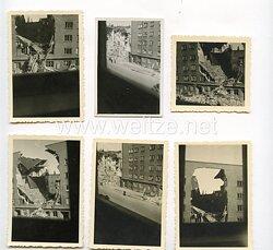 III. Reich Fotos, zerstörte Gebäude nach einer Bombardierung in Hamburg Juni 1944