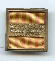 Baden Freistaat Ehrenzeichen für 25 Dienstjahre bei der Freiwilligen Feuerwehr 1920-1934