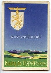 "III. Reich - farbige Propaganda-Postkarte - "" Gautag der NSDAP Steiermark Graz 7.-11. Juni 1939 """