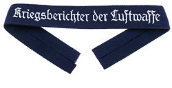 "Luftwaffe Ärmelband ""Kriegsberichter der Luftwaffe"" für Mannschaften,"