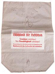 Reichsanstalt der Luftwaffe für Luftschutz - Papiersack für Löschsand