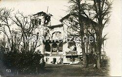 Fotos Erster Weltkrieg, Zerstörtes Schloss bei Ypern