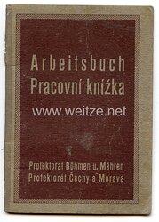 III. Reich - Protektorat Böhmen und Mähren - Arbeitsbuch für eine Frau des Jahrgangs 1925