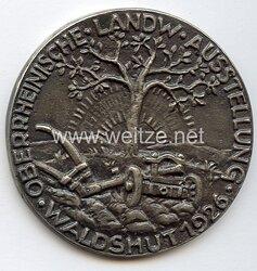 """Weimarer Republik - Medaille """" Für gute gewerbliche Leistungen - Oberrheinische Landw. Ausstellung Waldshut 1926 """""""