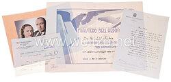Verleihungsurkunde für das italienische Militärfliegerabzeichen an einen deutschen Major