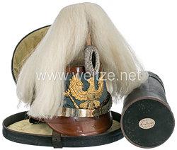 Preußen Tschako für einen Offizier der Maschinengewehr-Abteilungen