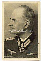 Heer - Originalunterschrift von Ritterkreuzträger Oberst Karl Wilhelm Specht