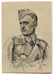 Heer - Originalunterschrift von Ritterkreuzträger Hauptmann Hans-Joachim Wagner