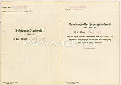 Trägerjagdstaffel 6/186 Kiel-Holtenau - Besoldungs-Nachweis II und Verpflegungsnachweis