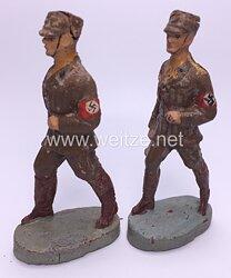 Elastolin - RAD Reichsarbeitsdienst 2 Arbeitsmänner marschierend