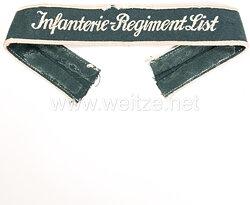 "Wehrmacht Heer Ärmelband ""Infanterie-Regiment List"" für Mannschaften."