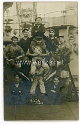 Kaiserliche Marine Postkarte zu Ostern