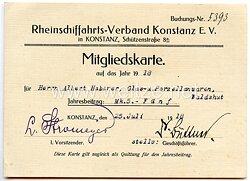 Rheinschiffahrts-Verband Konstanz e.V. - Mitgliedskarte