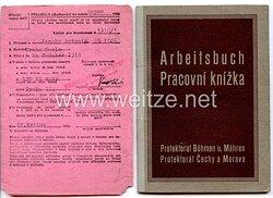 III. Reich - Protektorat Böhmen und Mähren - Arbeitsbuch für einen Mann des Jahrgangs 1906