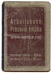 III. Reich - Protektorat Böhmen und Mähren - Arbeitsbuch für einen Mann des Jahrgangs 1929