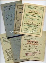 III. Reich - Tschechoslowakei - Konvolut von 6 verschiedenen Dokumenten