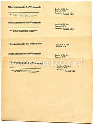 Oberkommando der Wehrmacht Berlin W35 - 5 x Briefbogen