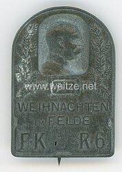 """Österreich / K.u.K. Monarchie 1. Weltkrieg Kappenabzeichen """"Weihnachten im Felde 1915 FK R 6"""""""""""