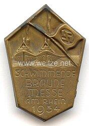 III. Reich - Schwimmende Braune Messe am Rhein 1934