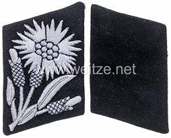 """Waffen-SS Paar Kragenspiegel für einen SS-Unterführer der 22. SS-Freiwilligen-Kavallerie-Division """"Maria Theresia"""""""